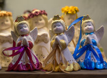Abstract - figure of small angels girls singing Christmas song Stock Photography