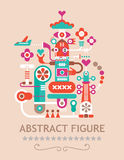 Abstract Figure. Abstract vector figure composition with text Abstract Figure Stock Photos