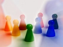 Abstract figures. Abstract plastic colors figures a game Royalty Free Stock Image