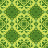 Abstract figures on a green background. In seamless pattern Royalty Free Stock Images