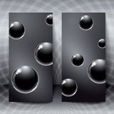 Abstract Figures With Black Glass Balls Inside. Royalty Free Stock Photos