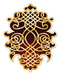 Ornate filigree crest Royalty Free Stock Photography