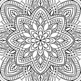 Abstract filigree pattern. Vector black and white background. Template for textile, carpet, shawl Stock Image