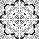 Abstract filigree pattern. Vector black and white background. Template for textile, carpet, shawl Royalty Free Stock Photos