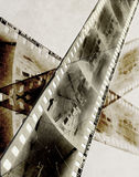 Abstract film. Strip of b&w negative Stock Images
