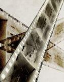 Abstract film. Strip of b&w negative stock illustration