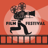 Abstract Film Festival poster. Color illustration Stock Images