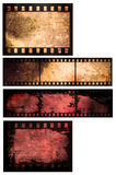 Abstract film strip background. Grunge style film abstract Royalty Free Stock Photos