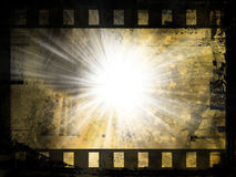 Abstract film strip background. Grunge style film abstract Stock Photography