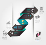 Abstract finance arrow infographics template. Stock Photo