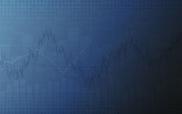 Abstract finance chart with line graph, bar chart and stock numbers on dark blue color background. Abstract finance chart with line graph, bar chart and stock Royalty Free Stock Photo