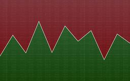 Abstract finance chart with line graph and stock numbers in sideways market on green and red color background. Abstract finance chart with line graph and stock Royalty Free Stock Image