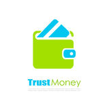 Abstract finance vector logo. Trust money abstract finance vector logo isolated on white background Stock Image