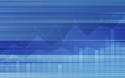 Abstract financial background with line graph and bar chart in stock market on gradient blue color. Abstract financial background with line graph and bar chart Royalty Free Stock Image