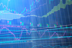 Abstract financial background trade colorful. Stock market graph and bar chart price display. Data on live computer screen. Display of quotes pricing graph Royalty Free Stock Photography