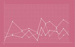 Abstract financial chart with uptrend line graph stock illustration
