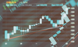 Abstract financial graph background Royalty Free Stock Photos