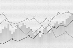 Abstract Financial graph background. Vector illustration. Eps 10 Royalty Free Stock Photos