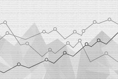 Abstract Financial graph background. Vector illustration. Eps 10 Royalty Free Stock Photo
