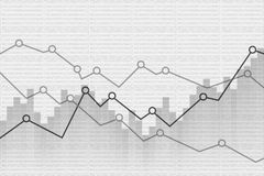 Abstract Financial graph background. Vector illustration. Eps 10 Stock Photo