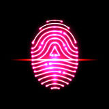 Abstract Fingerprint scan.Letter A.identification and security Royalty Free Stock Images