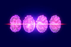 Abstract Fingerprint scan.PASS with fingerprint.identification Royalty Free Stock Photography