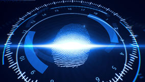 Abstract Fingerprint Scanning.Technology Concept. Royalty Free Stock Photography