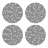 Abstract fingerprint set Stock Photos