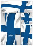 Abstract Finland Flag Background banner. Finland flag abstract colors background. Collection banner design. brochure vector illustration Royalty Free Stock Photos