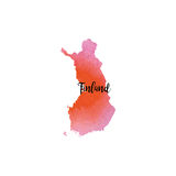 Abstract Finland map Stock Photography