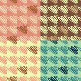 Abstract fir seamless pattern set.  Stock Photos