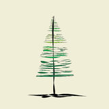 Abstract fir tree. On a beige background Royalty Free Stock Photography
