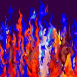 Abstract fire. Digital illustration created in photoshop to suggest fire abstract fire as light and substance, suitable for a background or abstract stock illustration