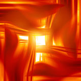 Abstract fire. With some smooth lines in it Royalty Free Stock Images