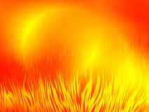 Abstract fire background. Sunburst hot flame, abstract bacground stock illustration