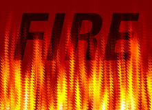 Abstract fire background. Abstract background of word fire in colorful flames Royalty Free Stock Photo