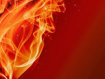 Abstract fire background. Abstract colorful fire background with many stars Royalty Free Stock Image