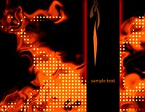 Abstract fire background. Abstract fiery background illustration with hot flames Stock Image