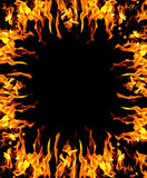 Abstract fire background. Frame of fire burning on four sides Stock Images