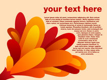 Abstract fire background. Abstract vector fire background with custom text Stock Image