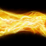 Abstract fire background. Abstract fire on black background with  beams and sparkles Royalty Free Stock Photography