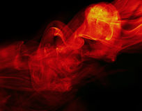 Abstract fire background on black Stock Image