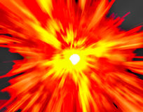 Abstract fire background. Abstract explosion background generated by the computer Stock Images