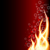 Abstract fire background, vector illustration Stock Images