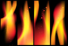 Abstract Fire banner  background Royalty Free Stock Images
