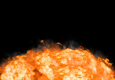 Abstract fire on black background. Bright explosion flash on a black backgrounds Royalty Free Stock Photography