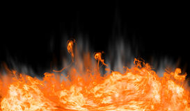 Abstract fire on black background. Bright explosion flash on a black backgrounds Royalty Free Stock Image