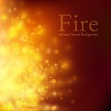 Abstract fire bokeh. Vector background Stock Photo