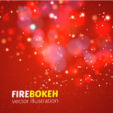 Abstract fire bokeh. Vector background Royalty Free Stock Photography