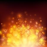 Abstract fire bokeh. Vector background Royalty Free Stock Images